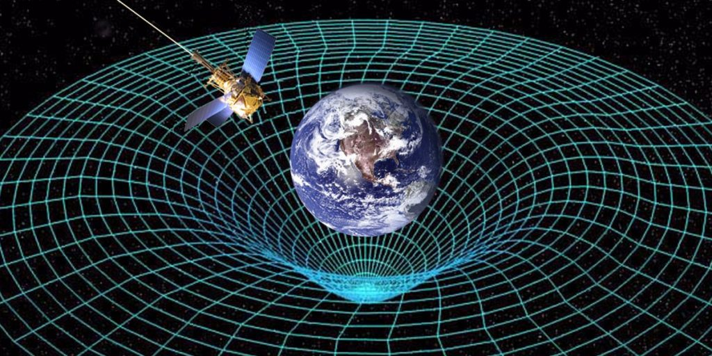 Curvature of the space-time due to the mass of the Earth. Credit: Business Insider